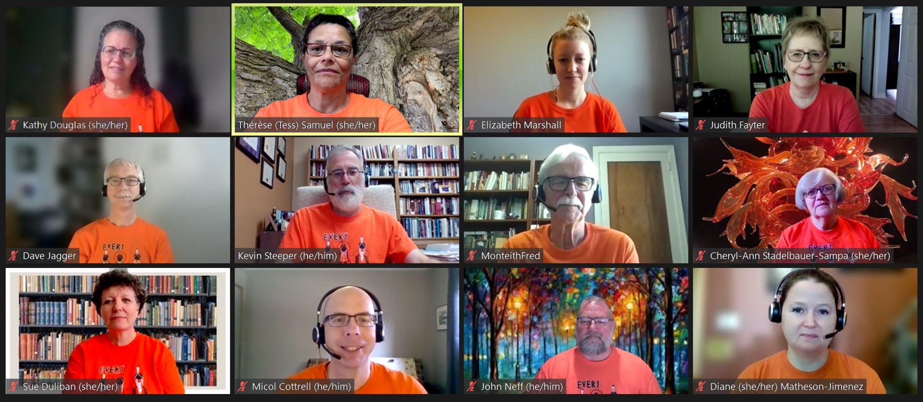 regional staff in orange