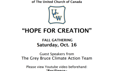Hope for Creation – UCW Fall Gathering